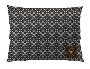 Dog Bed -JP-Black and Ivory Waves