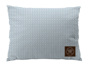 Dog Bed -JP-Iceberg Greek Key Slim