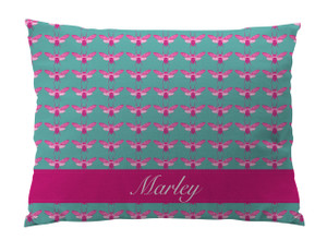 Dog Bed-Bees Pink Ocean