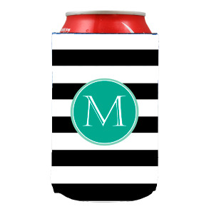 Can Koozie-Black Stripes