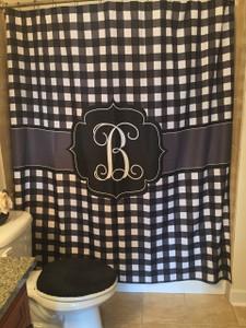 Shower Curtain- Black Gingham
