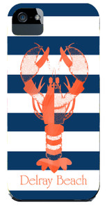 Hardcases-Navy Lobster Stripe