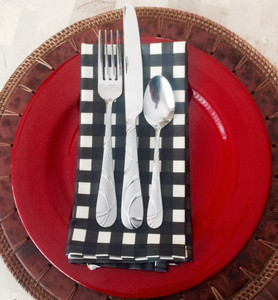Placemats-Black Gingham