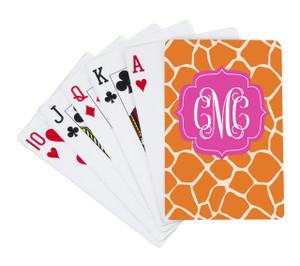 Playing Cards-Orange Giraffe