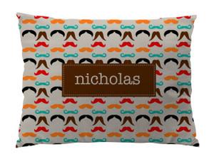 Floor Pillow- Mustaches