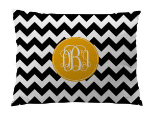 Floor Pillow- BW Chevron