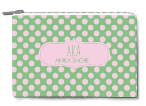 Accessory Zip Pouch- AKA Polka Dot