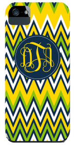 Hardcases-Lemon Navy Chevron