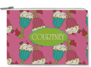 Accessory Zip Pouch- Hot Pink Ice Cream