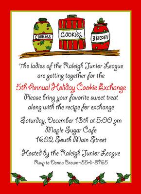 Invitation-Cookie Exchange