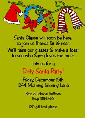 Invitation-Dirty Santa