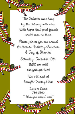 Invitation-Candy Cane Shoes