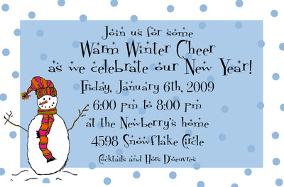 Invitation-Snowman