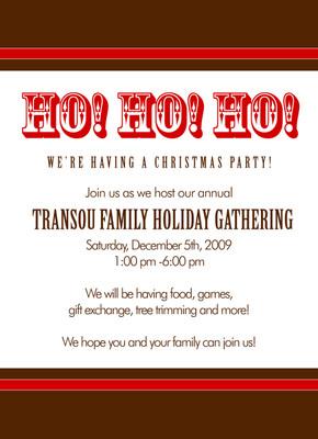 Invitation-Ho Ho Ho