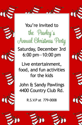 Invitation-Holiday Stockings