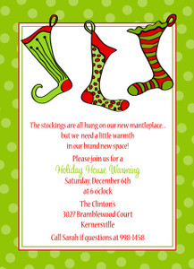 Invitation- Three Holiday Stocking