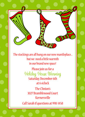 Invitation- Three Holiday Stocking