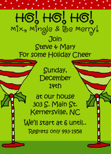 Invitation- Holiday Martinis