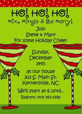 Invitation- Holiday Martinis