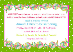 Invitation- Stripes Holiday