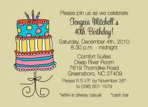 Invitation-Birthday Cake