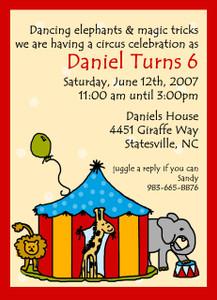 Invitation-Circus Invite