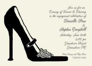 Invitation-Black Ball Shoe