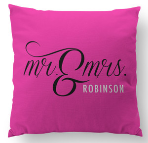 Pillow-Mr. and Mrs. Pink