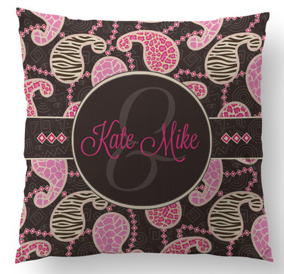 Pillow- Wild Pink Paisley