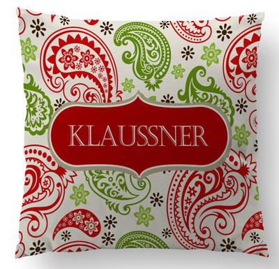 Pillow-Holiday Paisley