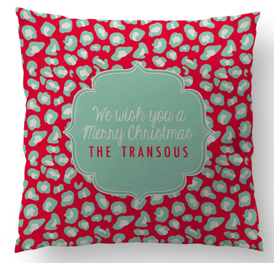 Pillow-Holiday Leopard