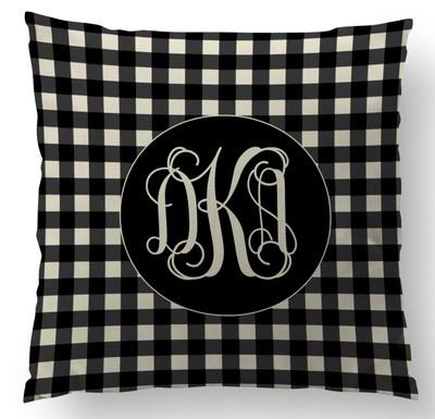 Pillows- Black Gingham