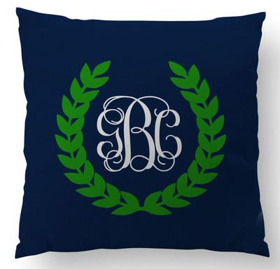Pillows- Navy Monogram Crest