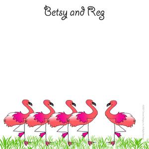 Scribble Square - Flamingo Row