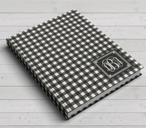 Custom Journal-Black Gingham