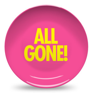 Microwave Safe Dinnerware Plate-All Gone-Pink