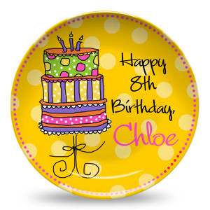 Microwave Safe Dinnerware Plate-Birthday Cake