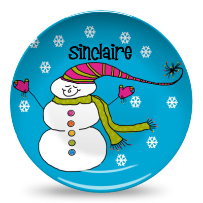 Microwave Safe Dinnerware Plate-Buttons the Snowman