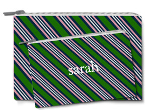 Accessory Zip Pouch- American Tie Green