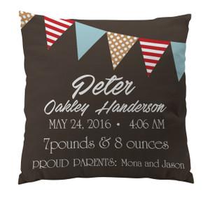 Pillow-Birth Announcement-Banner Boy