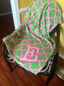 Blanket- Pink and Green Clover II