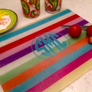 Cutting Board - Cabana Stripes II