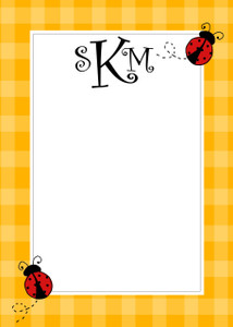 Fat Pad-Lady Bugs Gingham