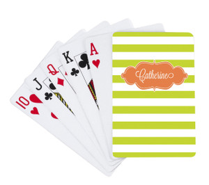 Playing Cards -Grass Stripes