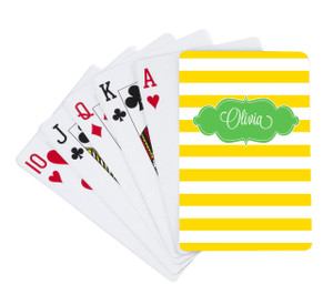 Playing Cards -Sunflower Stripes