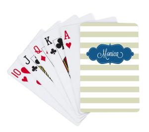 Playing Cards -Khaki Stripes