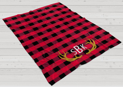 Blanket- Buffalo Plaid Red