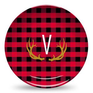 Microwave Safe Dinnerware Plate-Buffalo Plaid Red