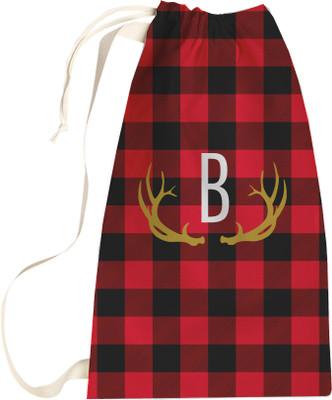 Santa Sack -  Buffalo Plaid Red