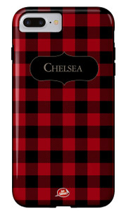 Hardcases-Buffalo Plaid Red